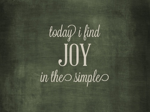 joy in simple