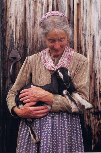 lady n goat