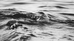 child in ocean
