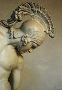 death of achielles statue detail